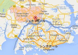 ジョホールバル、シンガポールの地図